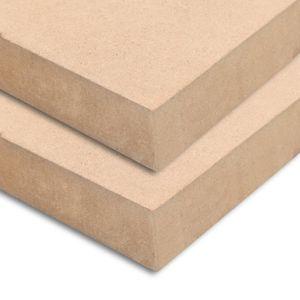 MDF-Platten 2 Stk. Quadratisch 60x60 cm 25 mm