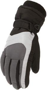 Kinder Skihandschuhe wasserdichte und Winddichte Schneehandschuhe Warme Handschuhe Winterhandschuhe für 6-11 Jahre Jungen Mädchen Skifahren Wandern Radfahren-Dunkelgrau