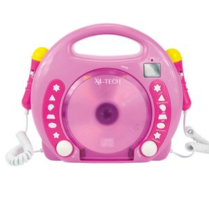 Karaoke CD Player MP3 2 Mikros girl-pink