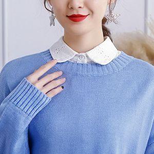 Frauen Abnehmbarer Weiß Kragen HemdKragen Bluse Blusenkragen Krageneinsatz Bluseneinsatz