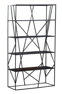 Sit Möbel ART & DECO Regal Metall |L 120 x B 38 x H 200 cm | antikschwarz |11099-11 | Serie ART & DECO