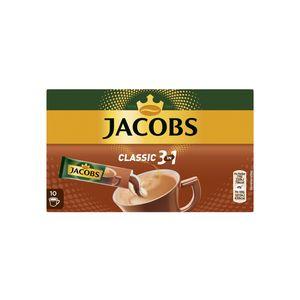 Jacobs Classic 3in1 Sticks | löslicher Kaffee | 10 Portionen