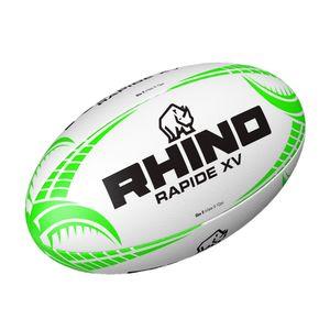 Rhino - Rugby-Ball Rapide XV - aus Kunststoff und Gummi RD1452 (5) (Weiß)