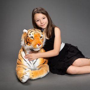 XL Plüschtier Tiger, Größe gesamt 160cm, Raubkatze, Stofftier, Kuscheltier