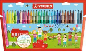 Filzstift - STABILO Trio A-Z - 30er Pack - mit 30 verschiedenen Farben