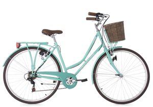 KS Cycling Stowage Damen-Cityrad 28 Zoll, 6-Gänge-Shimano, 28, Rahmenhöhe 51 cm, Farbe Grün