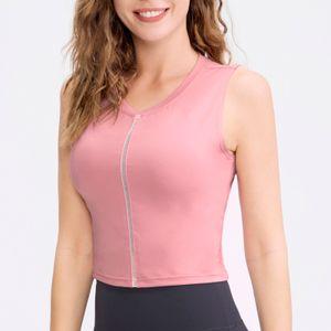 Damen Sportweste Dehnbares, atmungsaktives, feuchtigkeitstransportierendes Gurtband mit aermellosem Lauf-Yoga-Fitness-Top-Sportbekleidung