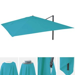 Bezug für Luxus-Ampelschirm MCW-A96, Sonnenschirmbezug Ersatzbezug, 3x4m (Ø5m) Polyester 3,5kg  türkis