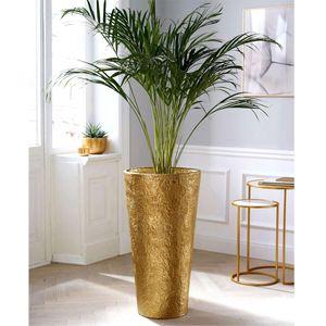 Deko-Bodenvase Diwan Blumenvase Pflanzenvase für Kunstpflanzen Gold Aluminium