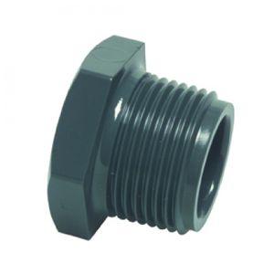 Profec Gewindestopfen PVC-U, 1/2 Zoll AG, 10 bar, grau