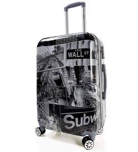 Motiv Koffer Trolley Bowatex Printkoffer bags TSA USA Wall Street XL 77 cm Groß