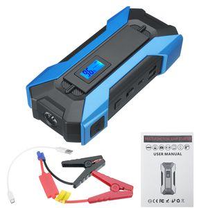 99990mAh 5 Ports Auto Starthilfe Autos Batterie Jumper 12V 3.0 Schnellladegerät 3 USB 2 Typ C Notstrombank SOS LED Flashlig