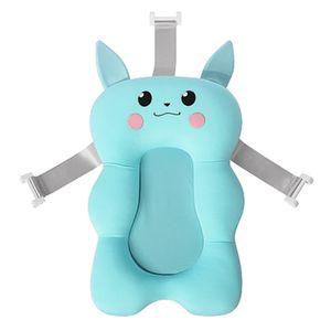 Baby Bad Pad Neugeborenen Baby Faltbare Baby Badewanne Pad Stuhl Regal Neugeborenen Badewanne Sitz Infant Unterstützung Kissen Mat(Blau)