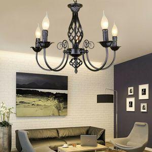Deckenlampe Hängelampe Deckenleuchte Retro Leuchte Lüster Kronleuchter Metall Eisen E14 Pendelleuchte Lampe Loft Deckenbeleuchtung