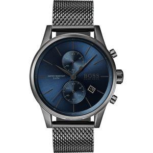 Hugo Boss Chronograph Uhr Herren Jet 1513677 In Grau/Blau Edelstahl/Edelstahl