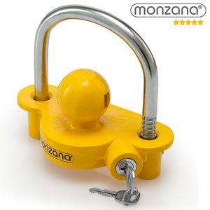 Monzana Anhängerschloss für gängige Anhängerkupplung einfache Montage Diebstahlschutz Diebstahl Anhänger Sicherung