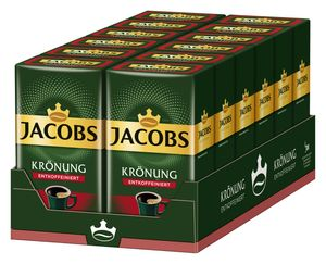 ACOBS Krönung Entkoffeiniert Decaf Filterkaffee 12x500g Kaffee gemahlen