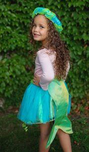 Kinder Meerjungfrau Rock mit Haarreif