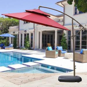 Sonnenschirmständer  mit Rollen Schirmständer befüllbar Basisständer Schirmhalter  80x60x16cm