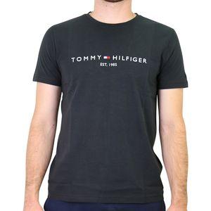 Tommy Hilfiger Logo-T-Shirt  Herren Schwarz (MW0MW11465BAS) Größe: L (52)