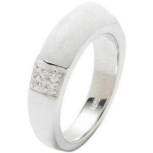 Fossil JF18045 Damen Ring Sterling-Silber 925 Weiß 56 (17.8)
