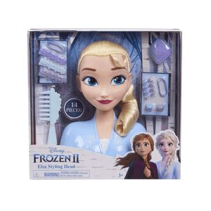 Die Eiskönigin II : Elsa Styling Kopf  26cm großer Stylingkopf mit Zubehör und 13 Haar-Accessoires