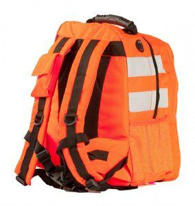Warnschutz Rucksack neon orange Reflexstreifen Schulrucksack