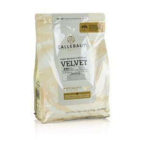 "Callebaut Weiße Schokolade ""Velvet"", Callets, 33% Kakaobutter, 23% Milch - 2,5kg"