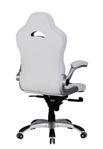 Bürostuhl RACING Bezug Kunstleder Schreibtischstuhl Weiß