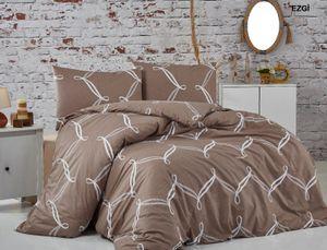 Bettwäsche  200x220 cm, Kopfkissenbezug 80x80 cm  3 teilig Bettgarnitur Bettwäsche - Set  Baumwolle Renforcé mit Reißverschluss