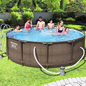 Bestway Swimming Schwimmbad Frame Pool Power Steel™ Set Ø366x100cm
