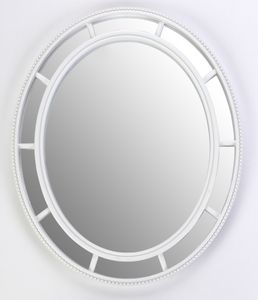 Spiegel, oval, Rahmen PP, weiss
