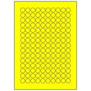 1500 15mm Markierungspunkte 10 Blatt gelb