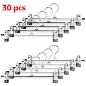 30 Stück Kleiderbügel Clip,Klammerbügel Metall,Anti-Rutsch Hosenbügel Metall Kleiderbügel Rockbügel