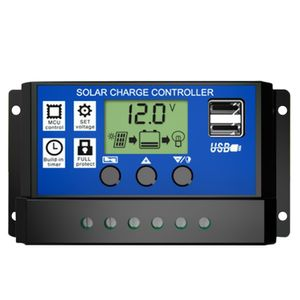 30A Solar Panel Controller HD LCD Batterie Laderegler Intelligente Controller fuer Heimgebrauch Strassenlaterne
