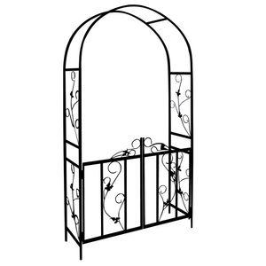 Rosenbogen DEUBA® Rosensäule Gartenbogen Rankgitter Rankhilfe Tür Spalier Tor, Model:M 1 - 225 cm
