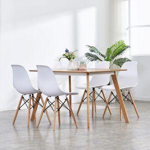 JEOBEST Esszimmerstühle 4 stk.| Lounge Stuhl Dining chair Skandinavischen Stil- Weiß