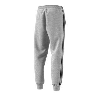 adidas Jogginghose 3 Streifen Herren mit Taschen, Größe:L, Farbe:Grau
