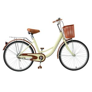 Crenex 26 Zoll Damenfahrrad Fahrrad Citybike Bike miit Korb Retro Damenrad