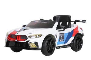 BMW M8 GTE Racing batteriefahrzeug 12 Volt weiß