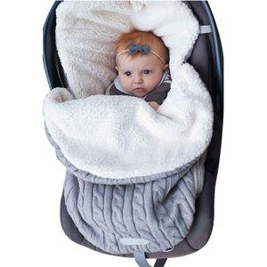 Wickeldecke Baby Kinderwagen Wickeldecke Fleece Schlafsack Plus Samt