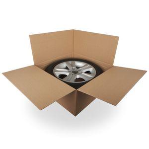 "4 x Reifenkartons Komplettrad Felgenkartons 15-19 Zoll 19"" 66 x 66 x 30 cm"