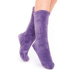 Socken Kuschelsocken Flauschsocken One Size Wintersocken Einheitsgröße Lila