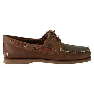 Timberland Classic 2 Eye Boat Sneaker Bootsschuhe Mokassin Braun Verschiedene Modelle, Schuhgröße:Eur 43.5; Farbe:1001R Dunkelbraun