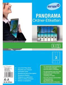 Panorama Ordner-Rücken Motiv Strand 18 Stück
