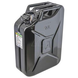 Metallkanister / Kraftstoffkanister 20 Liter schwarz