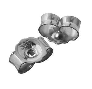 3Paar 585 Weißgold Gegenstecker Ohrstecker Ohrstopper Loch 0,8mm Ohrmutter 4823