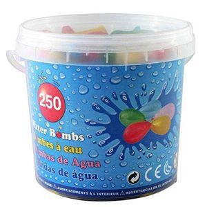 250 Mini Luftballons für Wasserbomben / im praktischen Eimer