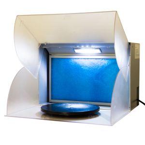 Absauganlage Airbrush Filter Spray Booth BD-512 LED Farbnebel Absaugung
