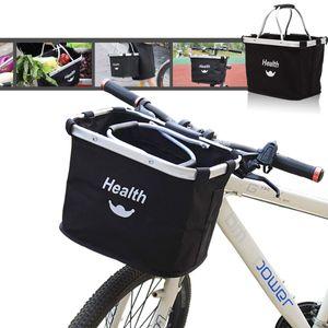 Lenkerkorb Taschen,Faltbar Fahrrad vorne Korb, Easy Install Abnehmbare FahrradkorbTasche für Kleiner Hund-Einkaufen-Reisen-Picknick, mit Lenkeradapter